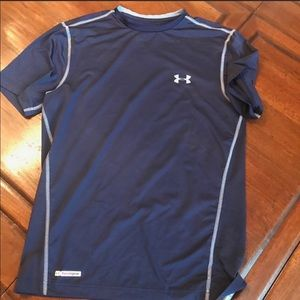 UNDER ARMOUR Fitted Tee, Sz SM